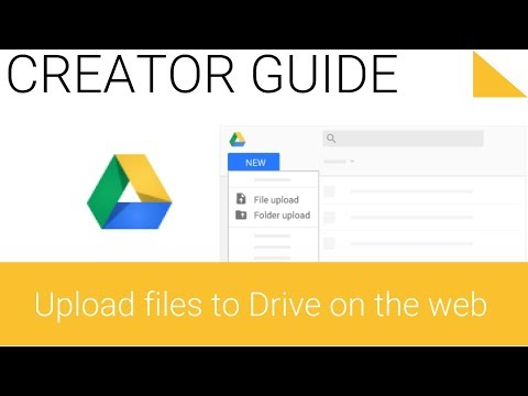 1.1 Upload files and folders to Google Drive on the Web ...
