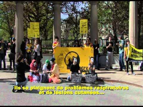 Action des jeunes d'Amnistie à l'Assemblée générale annuelle 2010