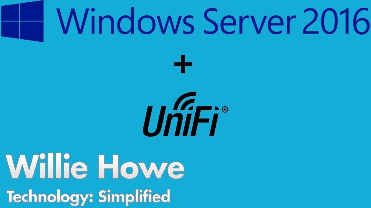 Install UniFi On Windows Server