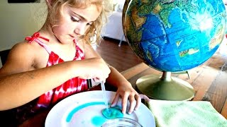 EARTH DAY & Globe Experiment | EASY Kids Art & Science Experiment For Kids