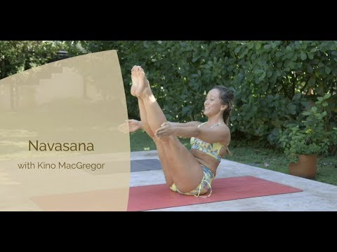 Navasana Boat Pose with Kino