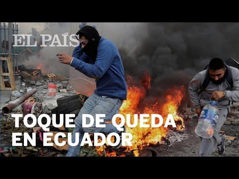 PROTESTAS INDÍGENAS en ECUADOR: Militarización y el TOQUE DE QUEDA en Quito