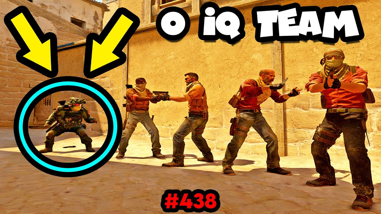 When YOUR WHOLE TEAM has 0 IQ! - CS:GO BEST ODDSHOTS #438