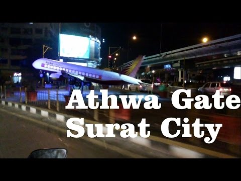 Athwa Gate at Night | Surat City