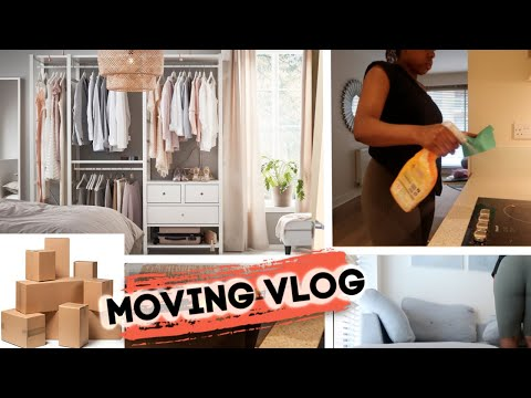 MOVING VLOG🏠 - Clothes Organisation Cleaning Bedroom