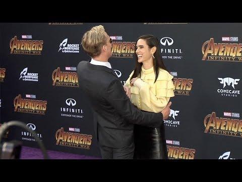 "Paul Bettany and Jennifer Connelly ""Avengers: Infinity War"" World Premiere Purple Carpet"