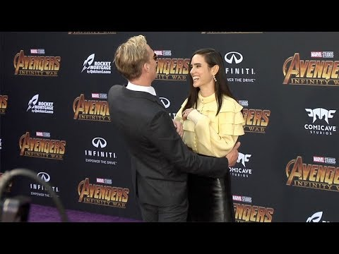 "Paul Bettany and Jennifer Connelly ""Avengers: Infinity War"" World Premiere Purple Carpet"