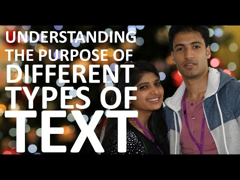 Understanding the Purpose of Different Types of Text