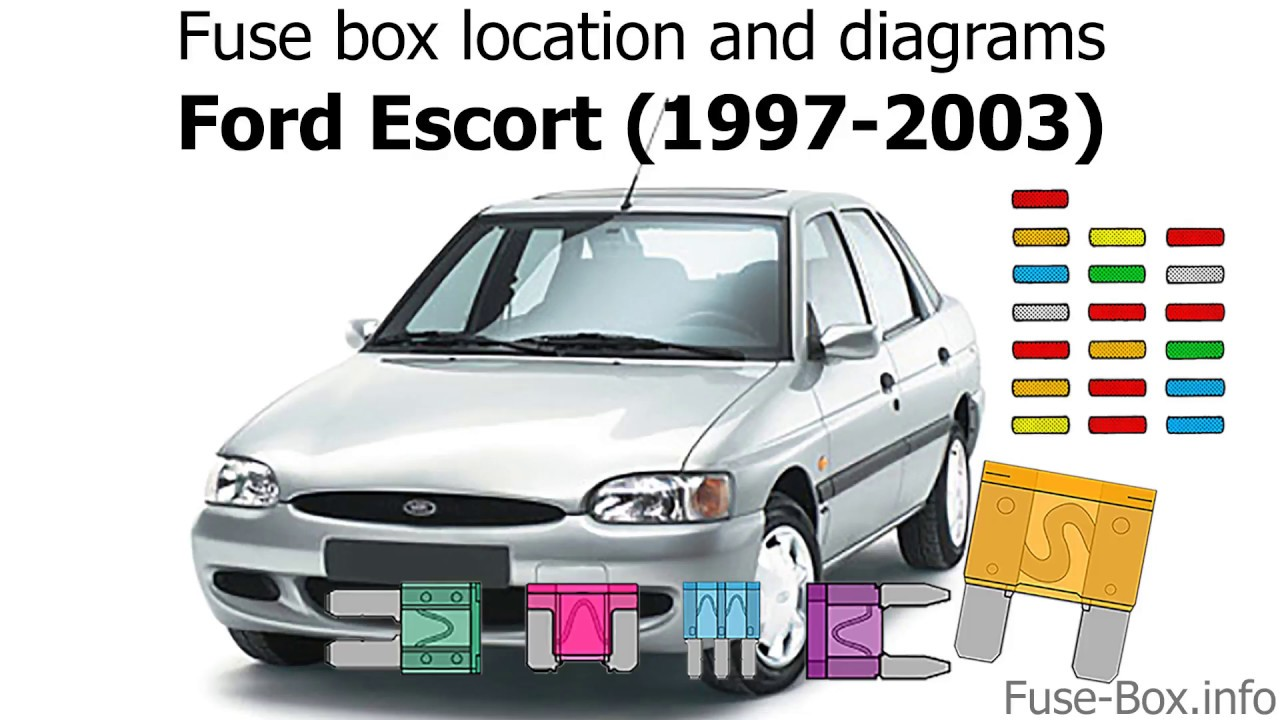 fuse box location and diagrams: ford escort (1997-2003)