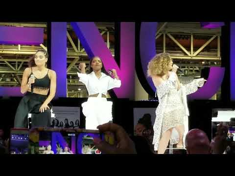 Cast of Star performing at Essence Festival (Convention Cent