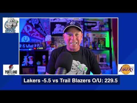 Los Angeles Lakers vs Portland Trail Blazers 8/18/20 Free NBA Pick and Prediction NBA Betting Tips