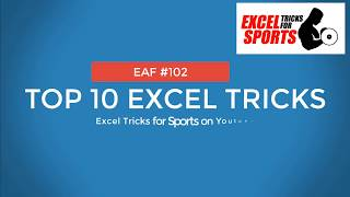 EAF #102 - Top10 Excel Tricks for Sport Science