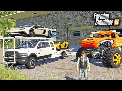 FS19- REPOING MR. CHOW'S $450,000 LAMBORGHINI & MONSTER TRUCK! (MULTIPLAYER REPO)