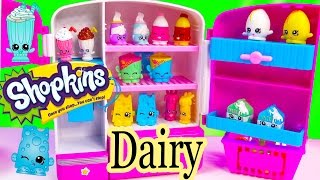 Shopkins COLLECTION TOUR Season 1 Dairy So Cool Fridge Part 5 Playset Video Cookieswirlc Rare Toys