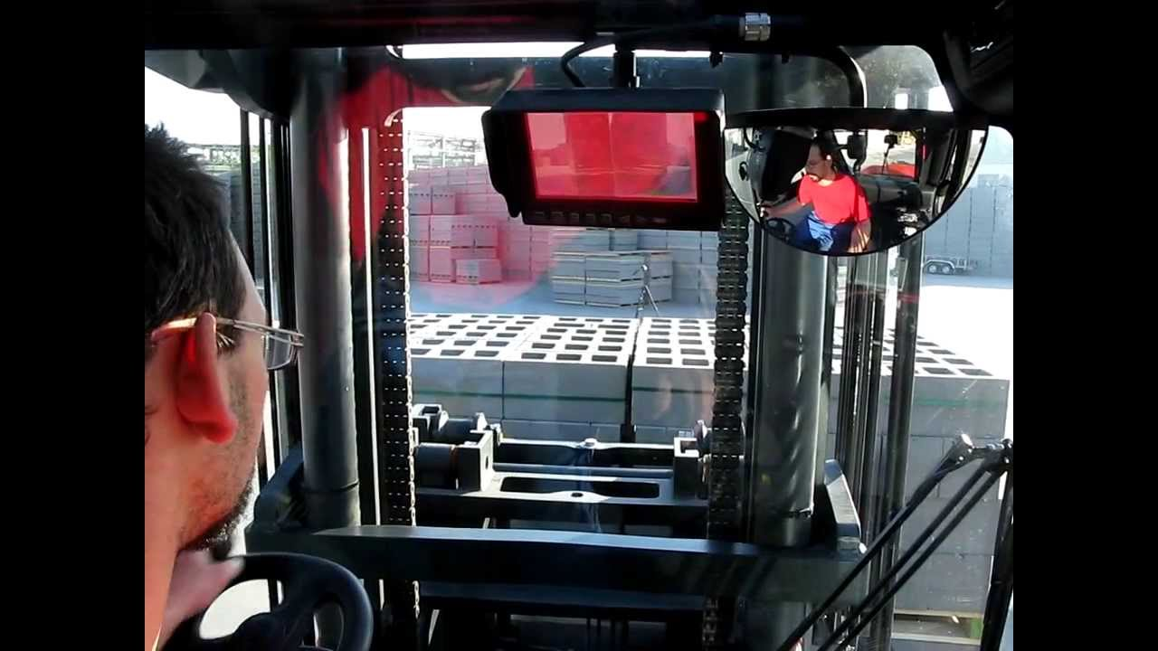Cab View Ii Of The Comatra Forklift Camera On Linde H80