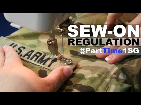 Sew On Vs Pin On - Army National Guard
