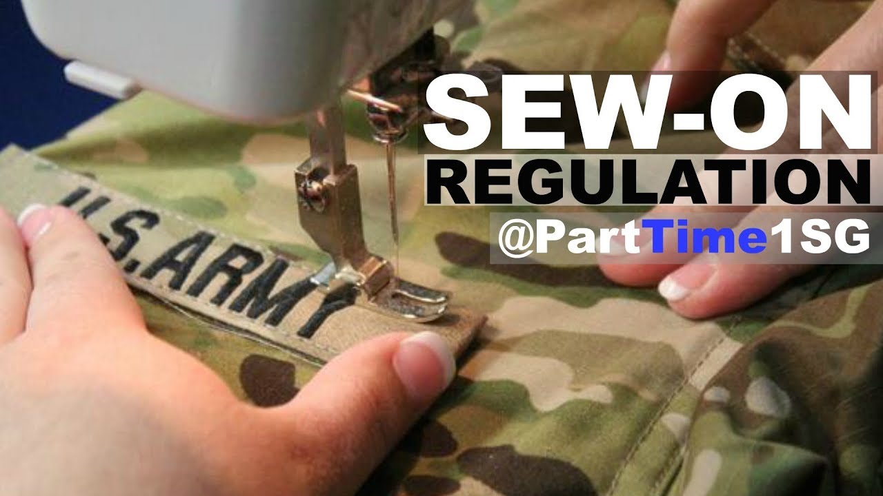 Sew on vs Pin on - Army National Guard - YouTube c2d8ca96002d