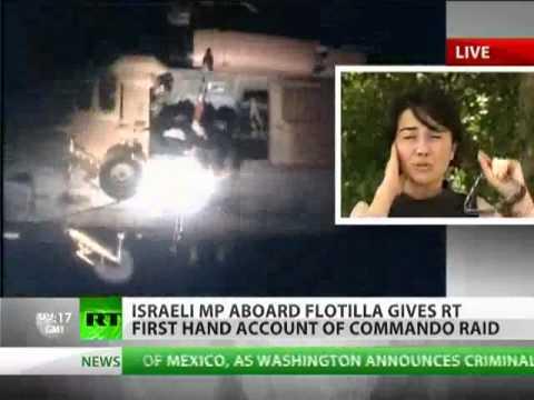 Gaza aid activist aboard Flotilla  Israeli ships fired before boarding