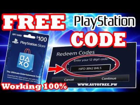 psn store redeem codes free