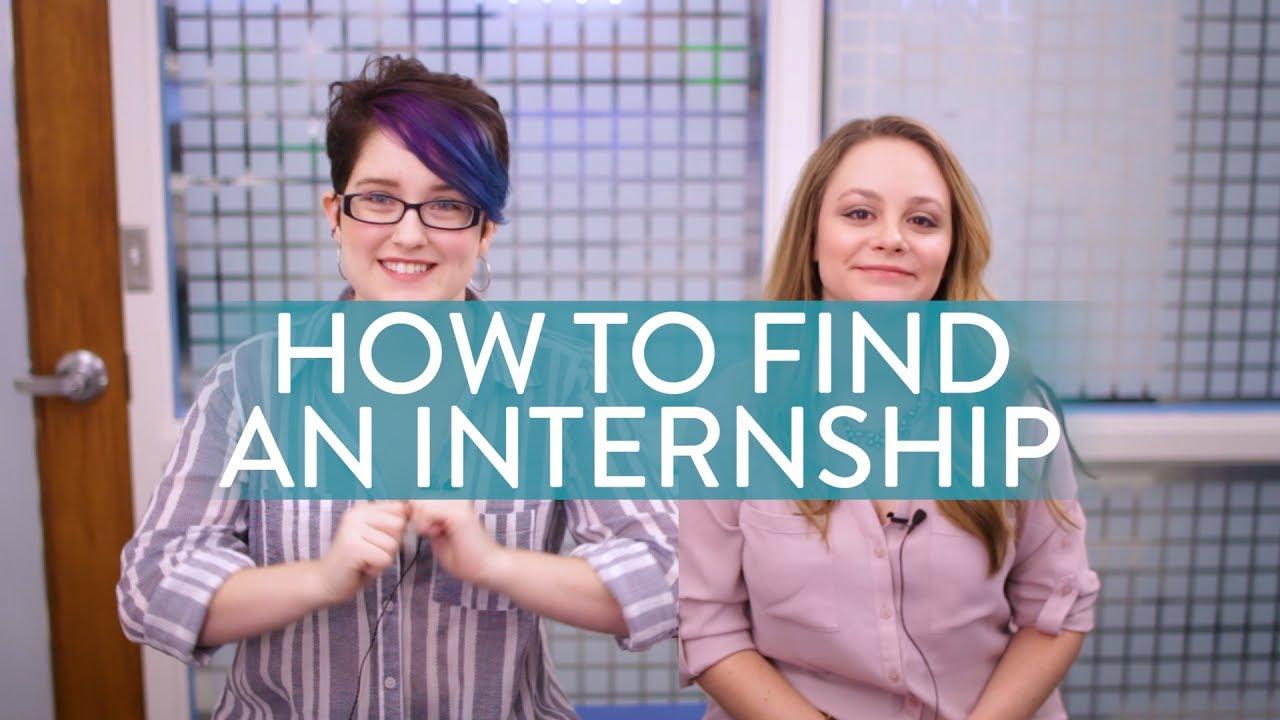 how to find an internship