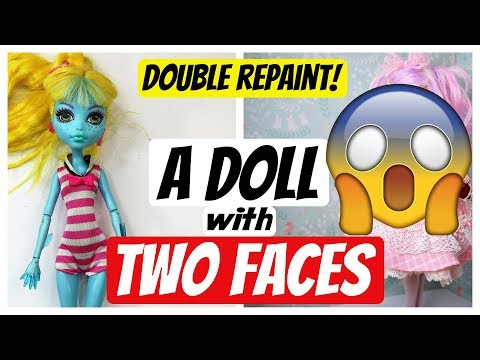 MAKING A DOLL WITH TWO FACES - GEMINI - ZODIAC MONSTER HIGH REPAINT by Poppen Atelier