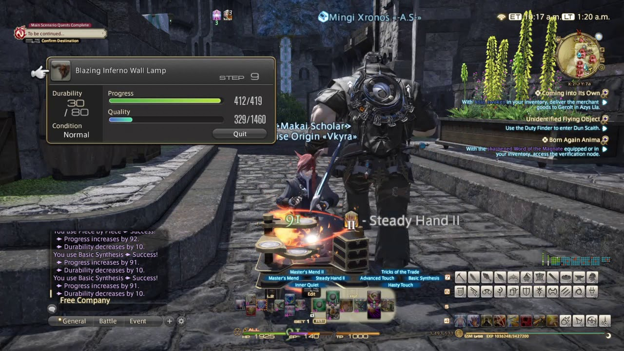 FINAL FANTASY XIV GSM Lv 50 Housing (II) Recipes: Blazing Inferno ...