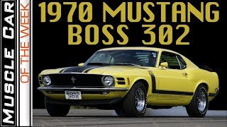 1970 Ford Mustang BOSS 302 - Muscle Car Of The Week Episode 295 V8TV