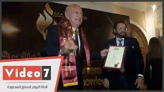 تكريم عمر خيرت ومها أبو عوف والصقر فى المؤتمر الدولى للتميز