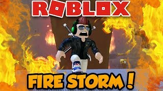 FIRE STORM DESTROYS EVERYTHING in ROBLOX! (TORNADO ALLEY)