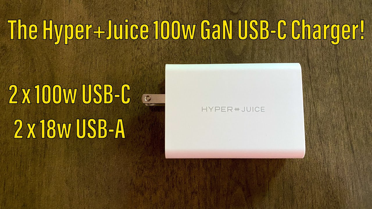 The New Hyper Juice! The Worlds First Dual 100w GaN USB-C Charger With Power Delivery!