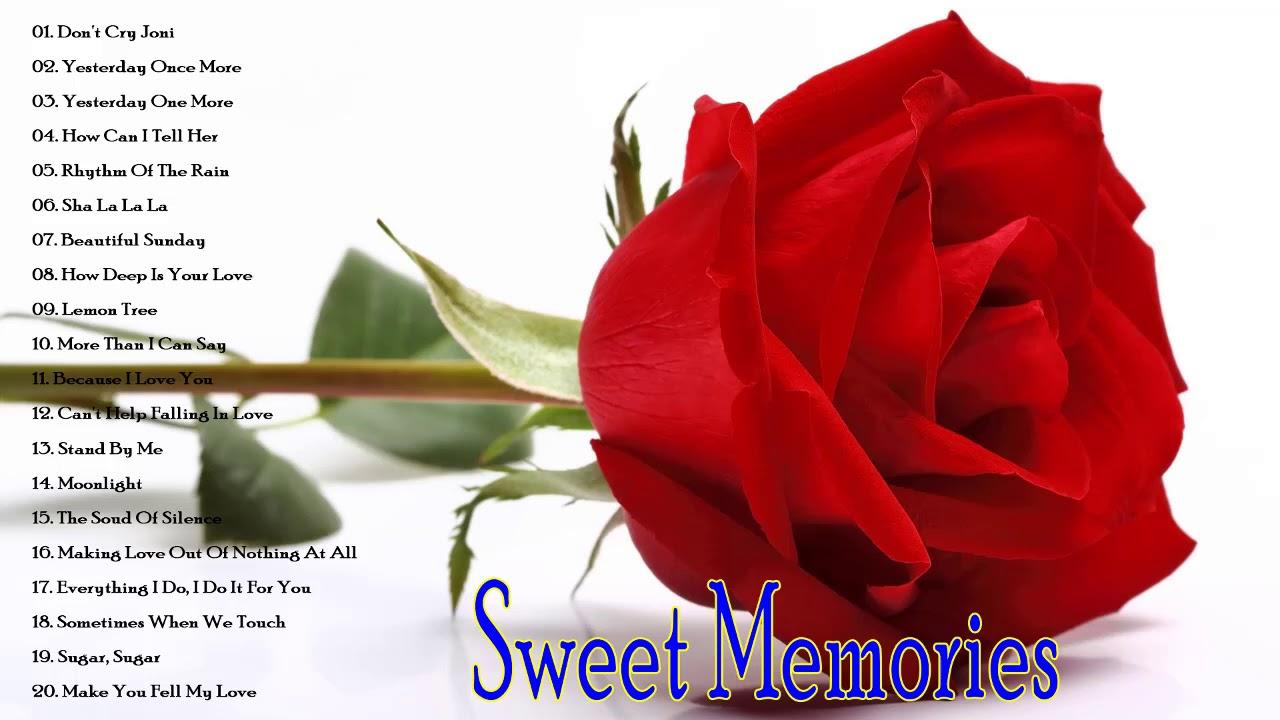 Sweet Memories Love Songs 70's 80's 90's Full Album
