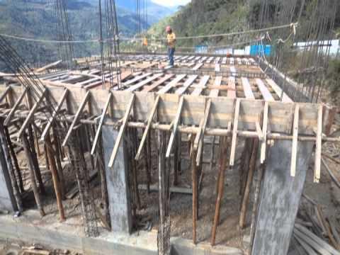 Excavacion estructura de vigas y columnas encofrado losa for Losas de hormigon para jardines