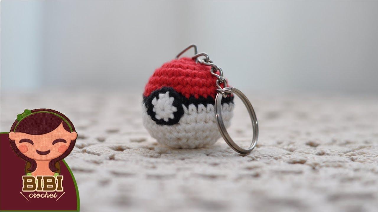 Amigurumi   Como hacer un Pokeball para llavero en crochet   Bibi ...