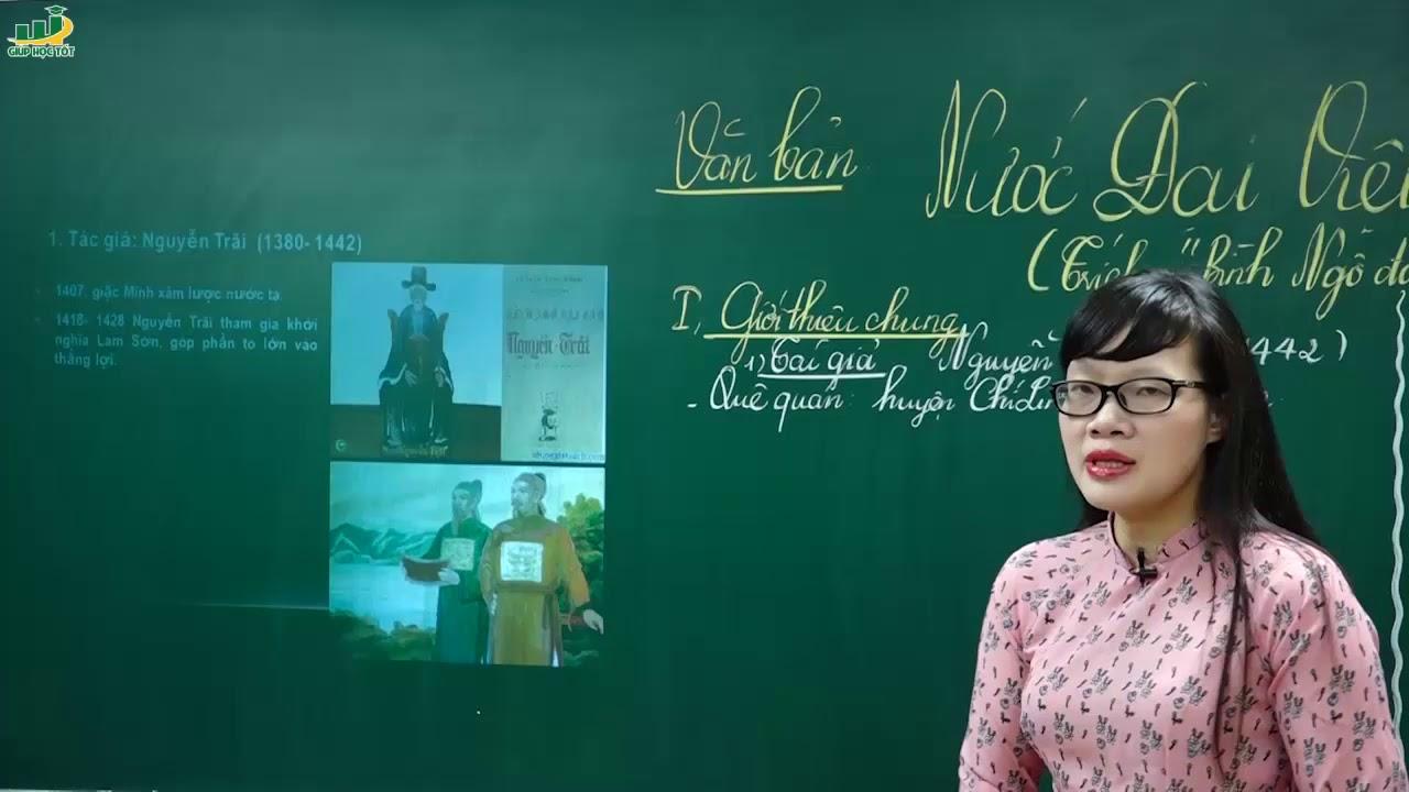 """Ngữ Văn Lớp 8 – Bài giảng Nước Đại Việt ta ngữ văn lớp 8 trích """" Bình Ngô đại cáo"""" của Nguyễn Trãi"""