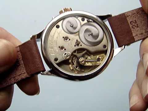 Rare LANGE for Agthe & Ismer / Shanghai vintage pocket watch movement c 1875