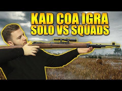 KAD COA IGRA SOLO VS SQUADS! - PUBG (10+ KILLS)