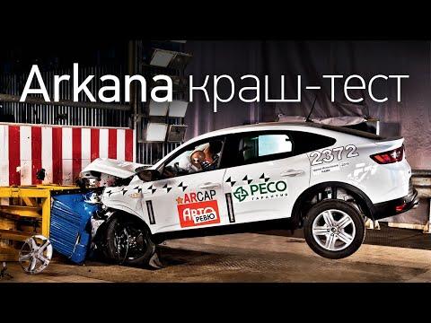 Renault Arkana: краш-тест! Уже не Duster? Бюджетный и безопасный кроссовер? Удар, блэкаут, хэппи-энд