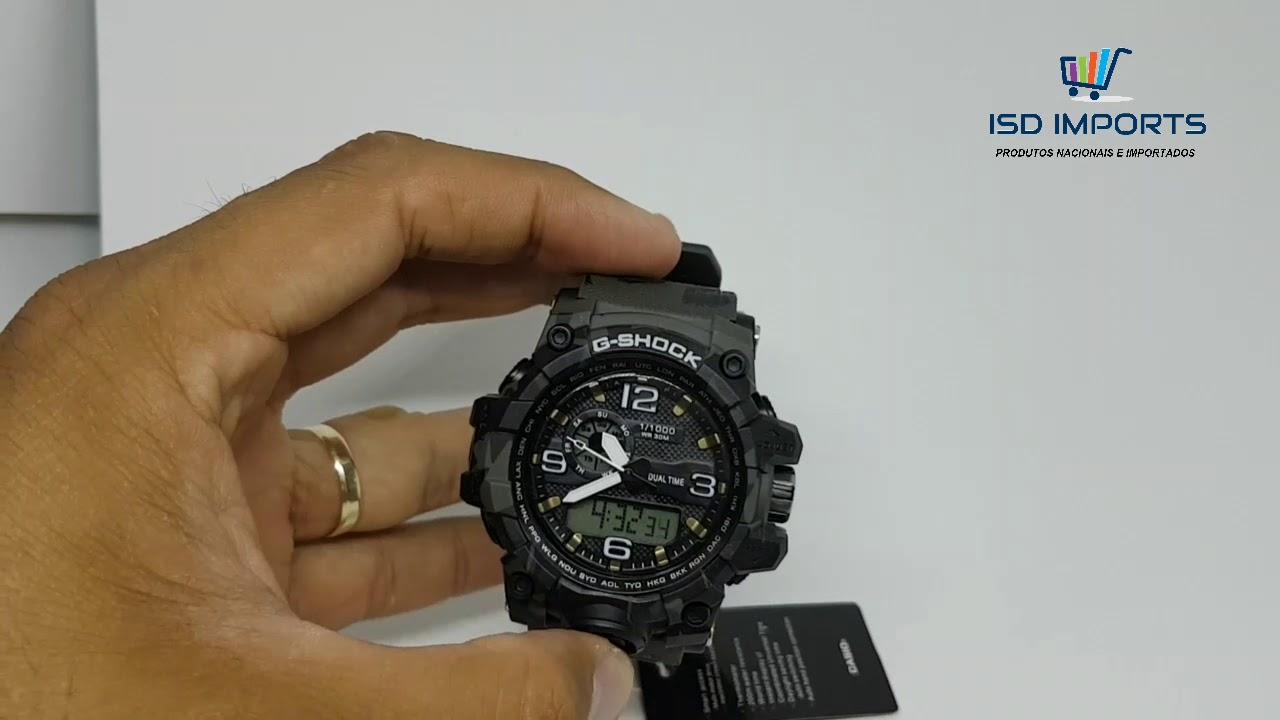 a7bd7751c9 Relogio G-Shock MUDMASTER - camuflado Preto com cinza. ISD IMPORTS