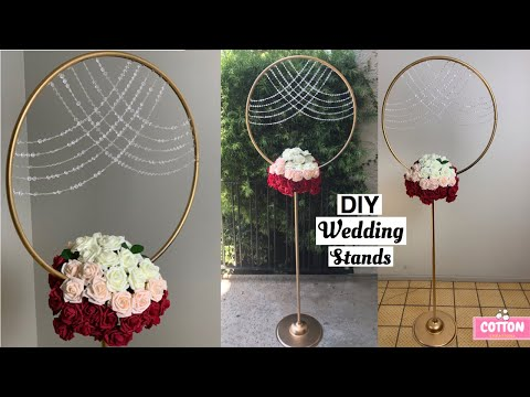 DIY Wedding Hula Hoop Stand | Dollar Tree Wedding Decorations | Backdrop Stand