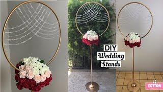 DIY Wedding Hula Hoop Stand   Dollar Tree Wedding Decorations   Backdrop Stand