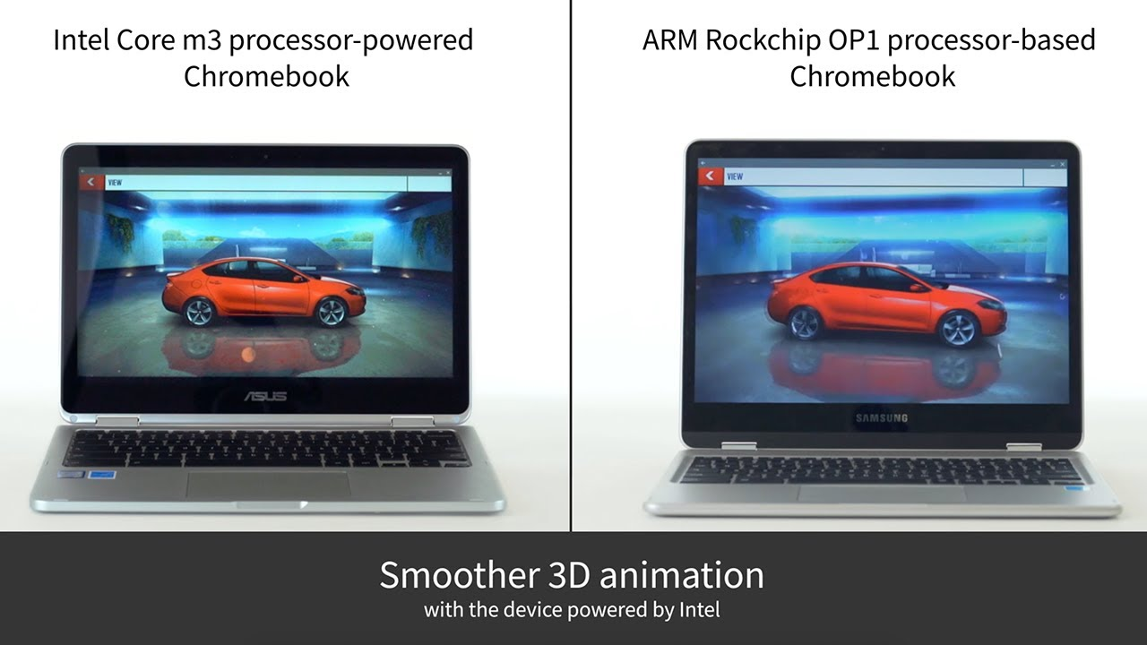 Asphalt 8: Airborne: Intel processor-powered Chromebook vs  ARM  processor-based Chromebook