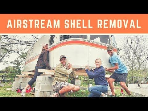 Airstream Renovation: Subfloor, Frame & Shell Removal - Drivin' & Vibin'