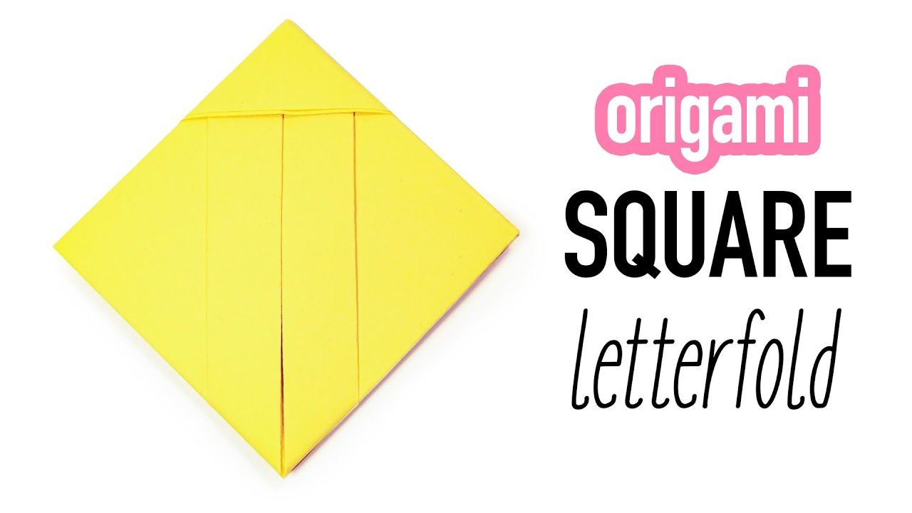 Origami bamboo letterfold folding instructions - Easy Origami Square Letter Fold Tutorial Diy Back To School Youtube