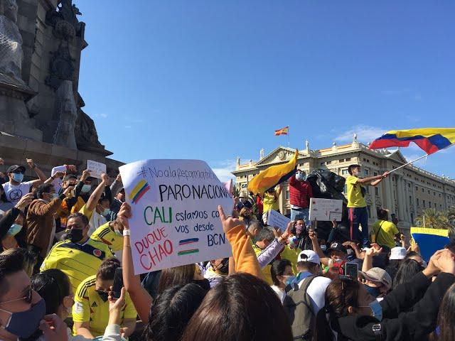 Contrainfo/ Manifestación solidaria con el pueblo colombiano