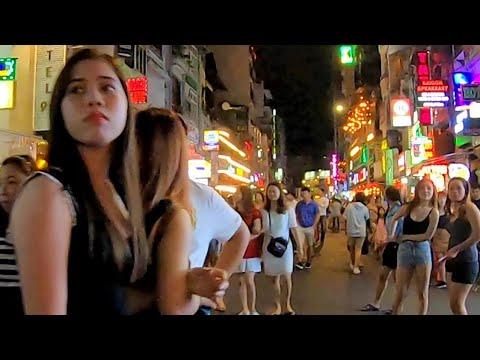 【ブイビエン通りの美女】ベトナム ホーチミン / Bui Vien Street Beautiful Girls Ho Chi Minh Vietnam (Saigon)