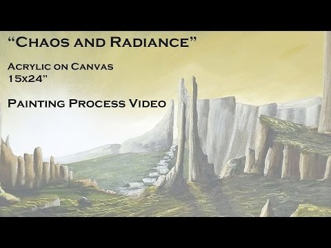 Chaos and Radiance | Acrylic on Canvas | Painting Process Video