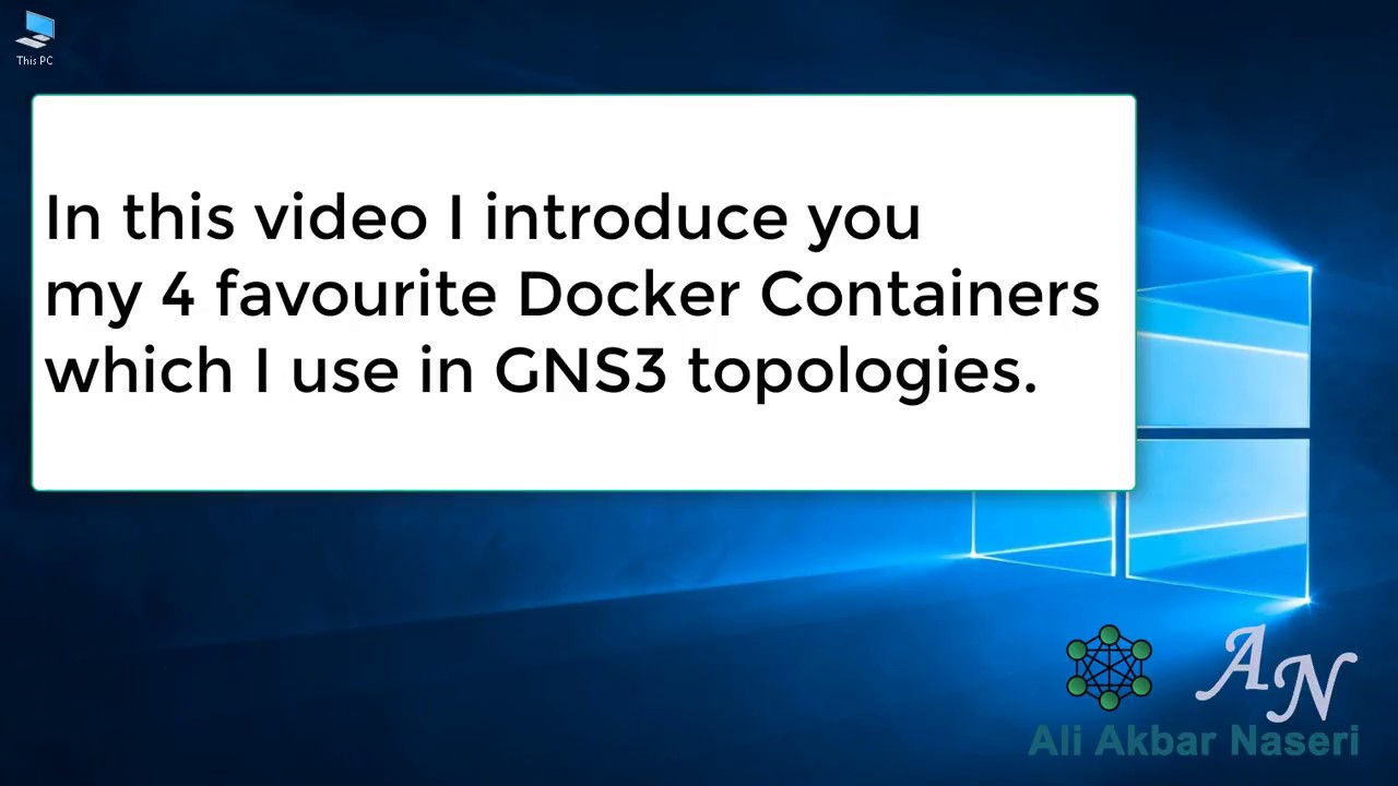 My favorite Docker Containers in GNS3