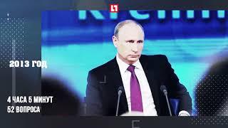 Все пресс конференции Путина в цифрах