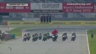 vuclip 2015 ARRC Sepang: SuperSports 600cc Race 1 (full)