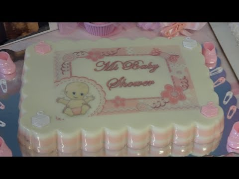 Decoracion para baby shower de ni a gelatina para baby - Decoracion de baby shower nina ...